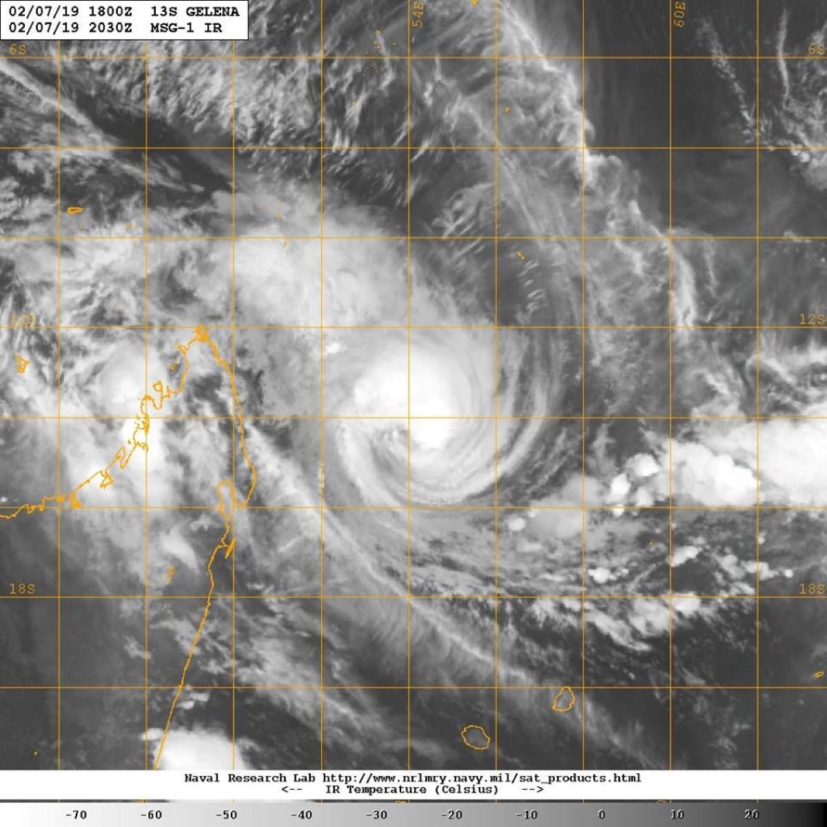 GELENA : un avertissement de cyclone de classe 1 en vigueur à Maurice