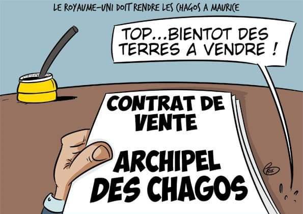 L'actualité vu par KOK : Le Royaume-Uni doit rendre les Chagos à Maurice
