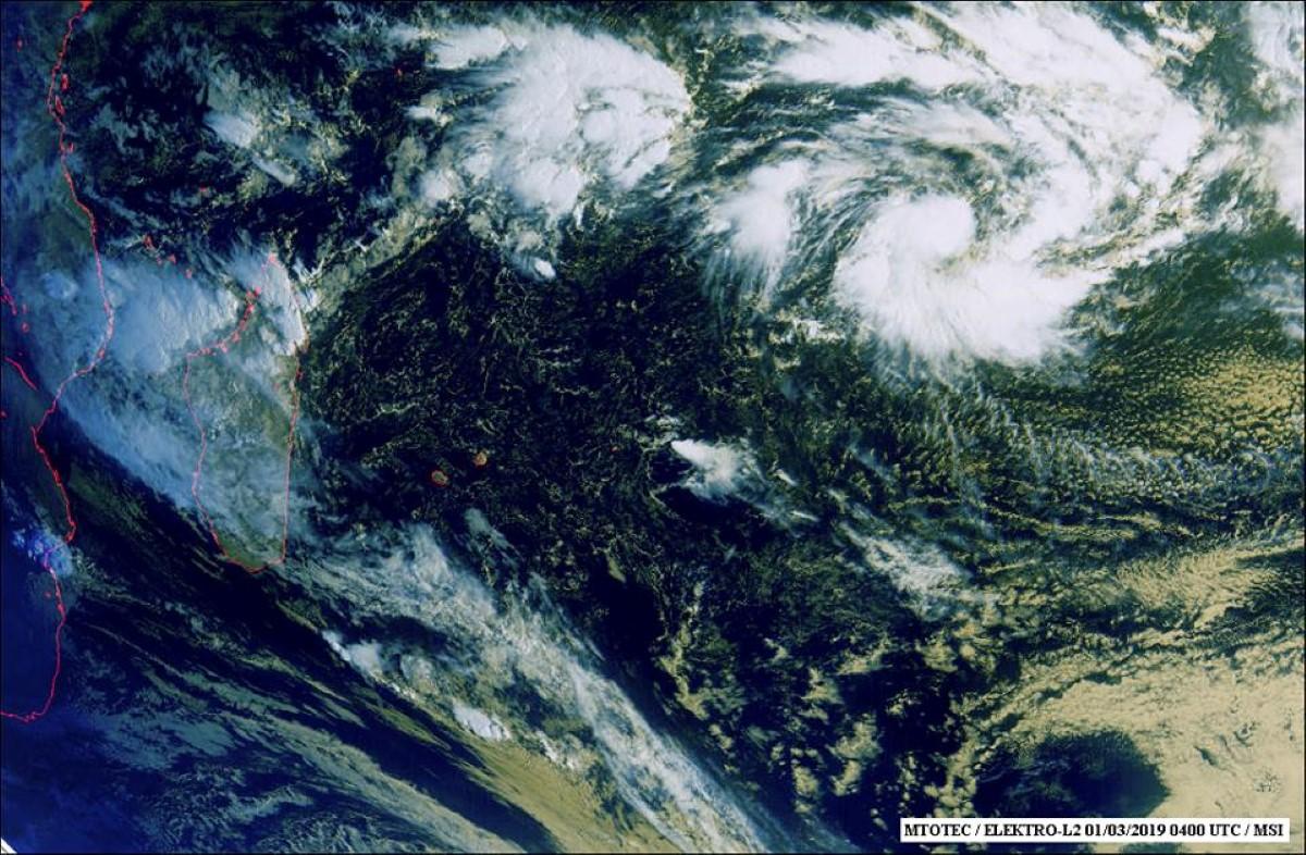 La future tempête tropicale HALEY à 2440 km de Maurice