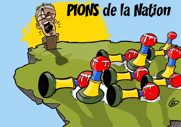 L'actualité vu par KOK : Pions de la Nation