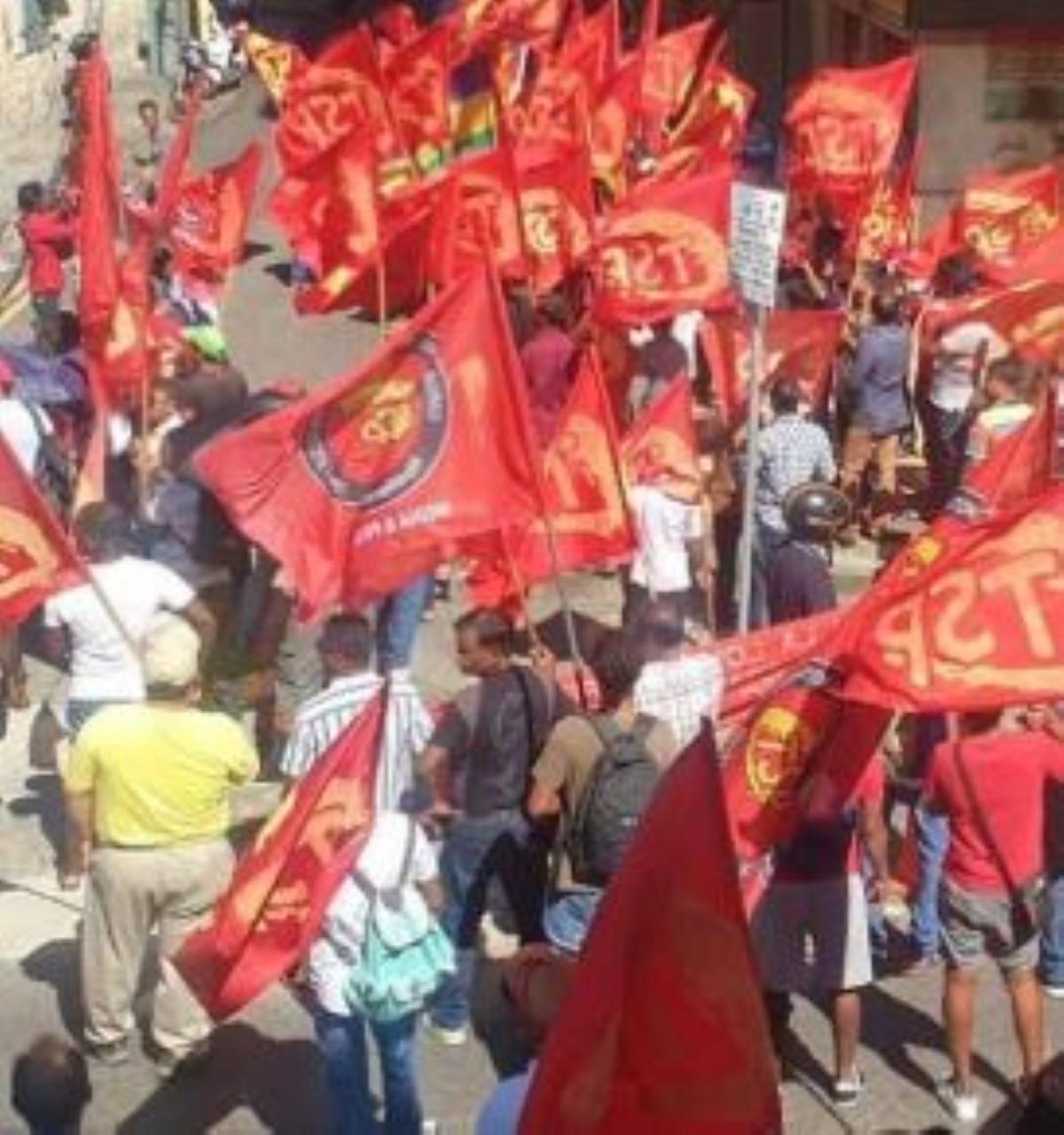 Manif de la CTSP à Port-Louis cet après-midi