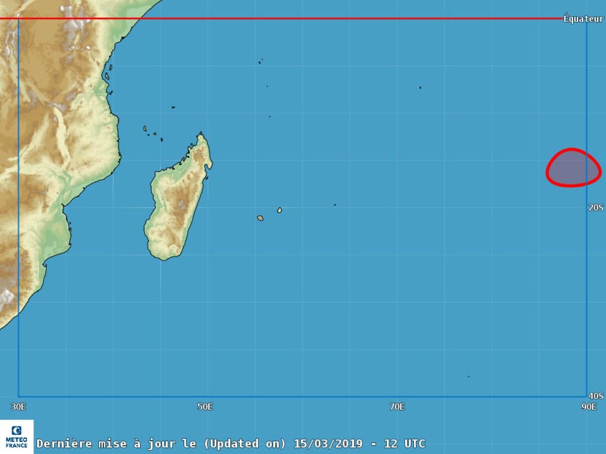 [Météo] La forte tempête tropicale Savannah à 3 400 kms de Rodrigues