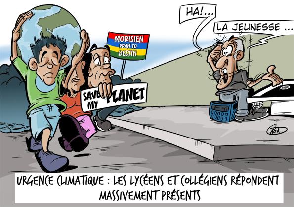 [KOK] Le dessin du jour : Urgence climatique, les lycéens et collégiens répondent massivement présents