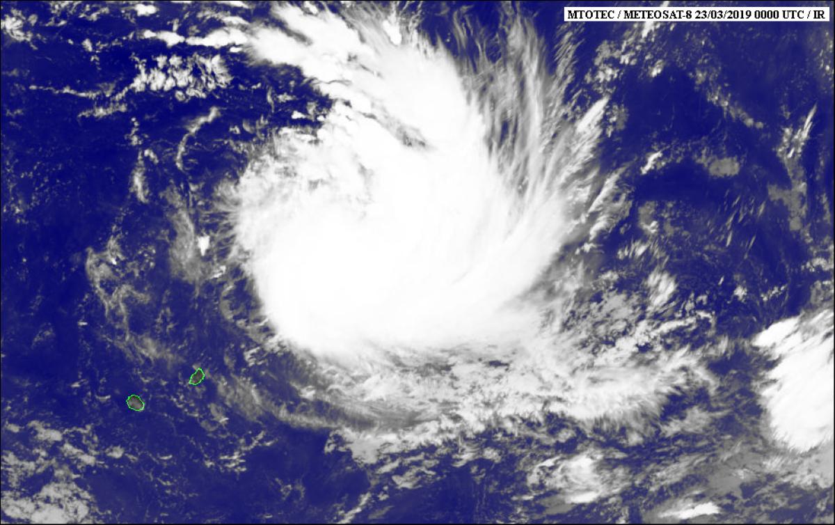 Forte tempête tropicale Joaninha, alerte 1 en vigueur à Rodrigues