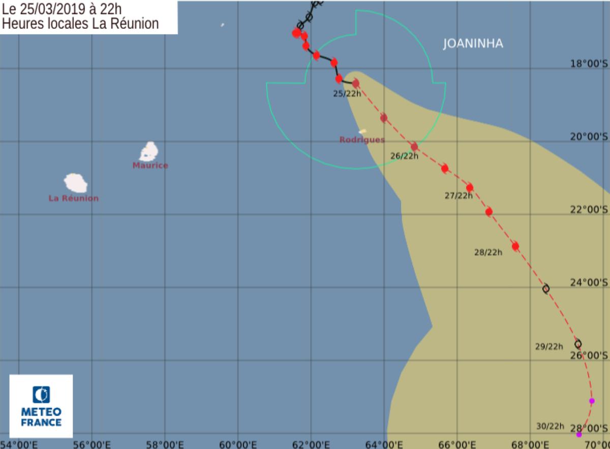 [Rodrigues] JOANINHA s'est intensifié en un cyclone tropical intense