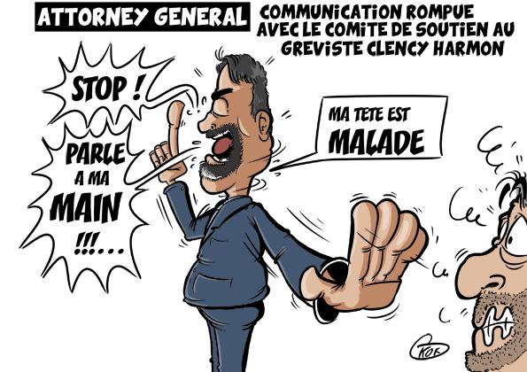 [KOK] Le dessin du jour : Communication rompue avec le comité de soutien de Clency Harmon
