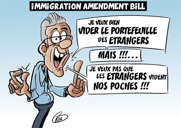[KOK] Le dessin du jour : Immigration Amendment Bill