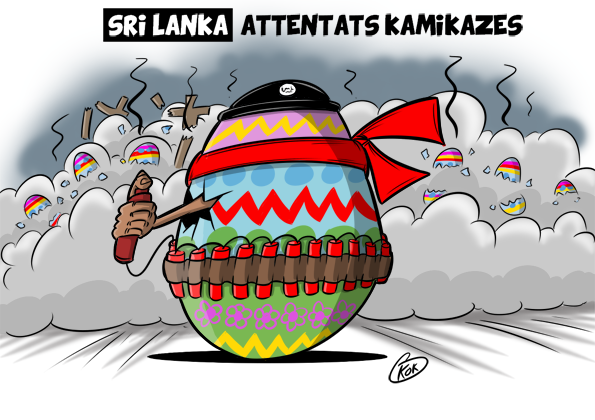 [KOK] Le dessin du jour : Sril Lanka : Attentats Kamikazes