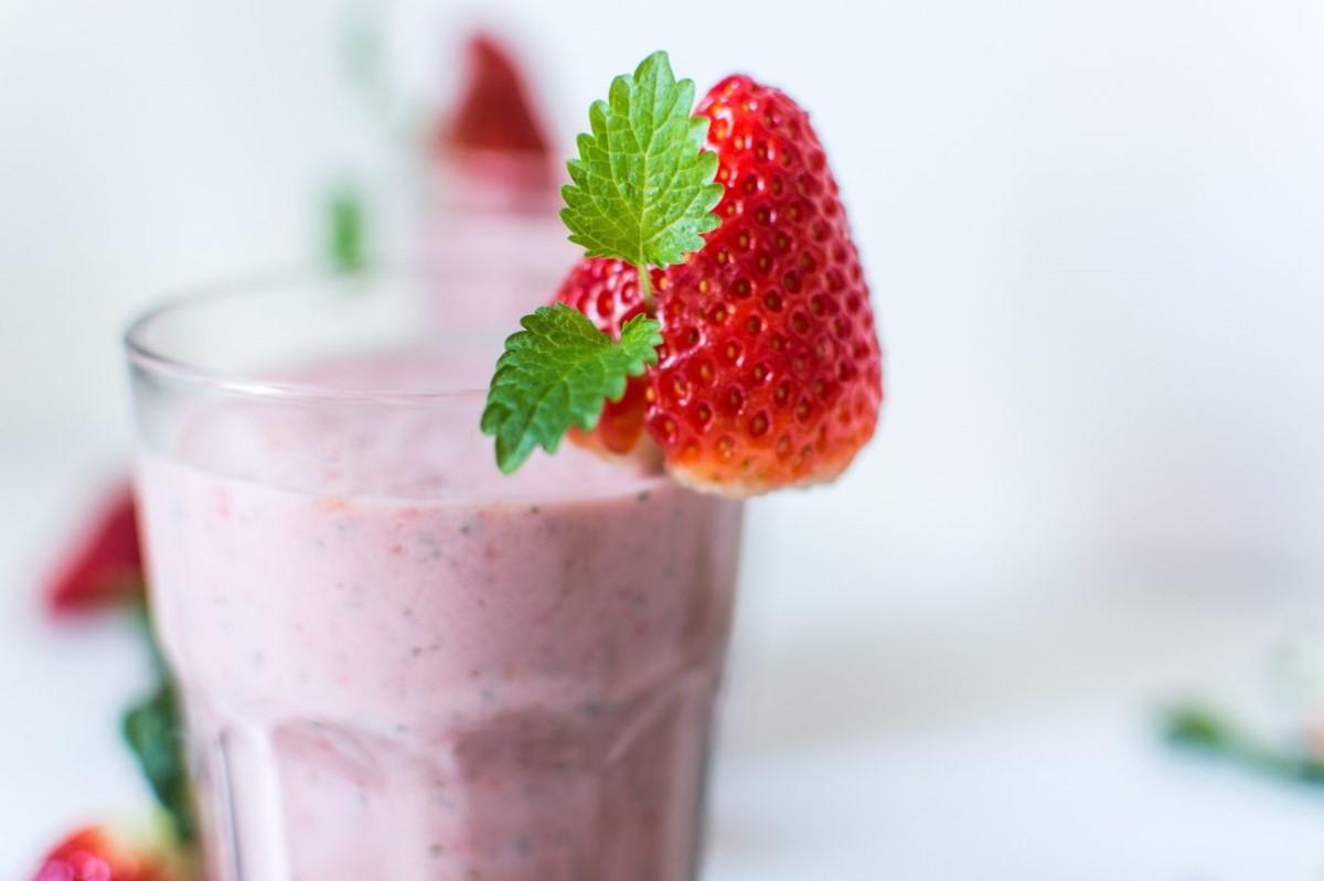 La recette d'une crème dessert à la fraise