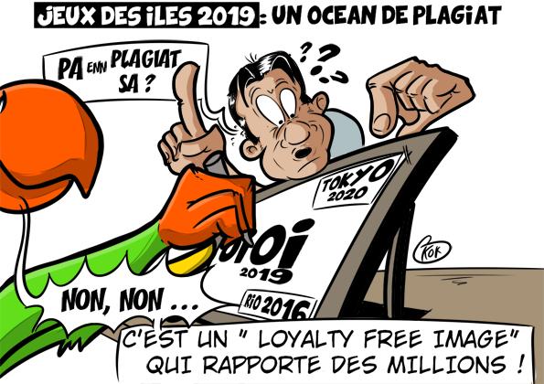 [KOK] Le dessin du jour : Jeux des îles 2019 : Un océan de plagiat