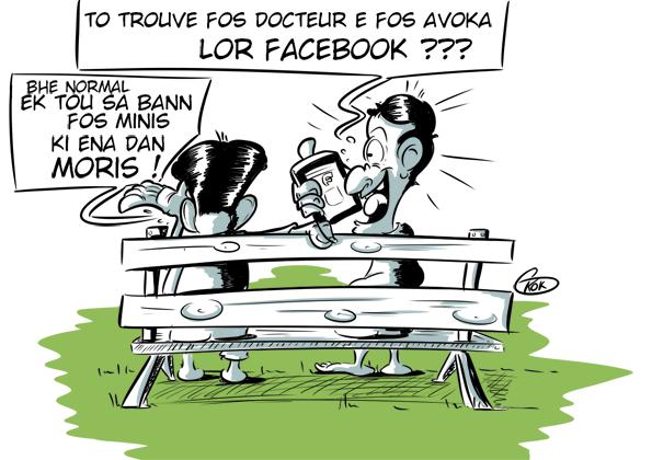 L'actualité vu par KOK : Fos Docteur e Fos Avoka... lor FaceBook