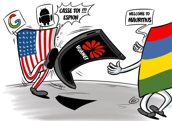 L'actualité vu par KOK : Google bloque l'accès de Huawei aux dernières versions d'Android