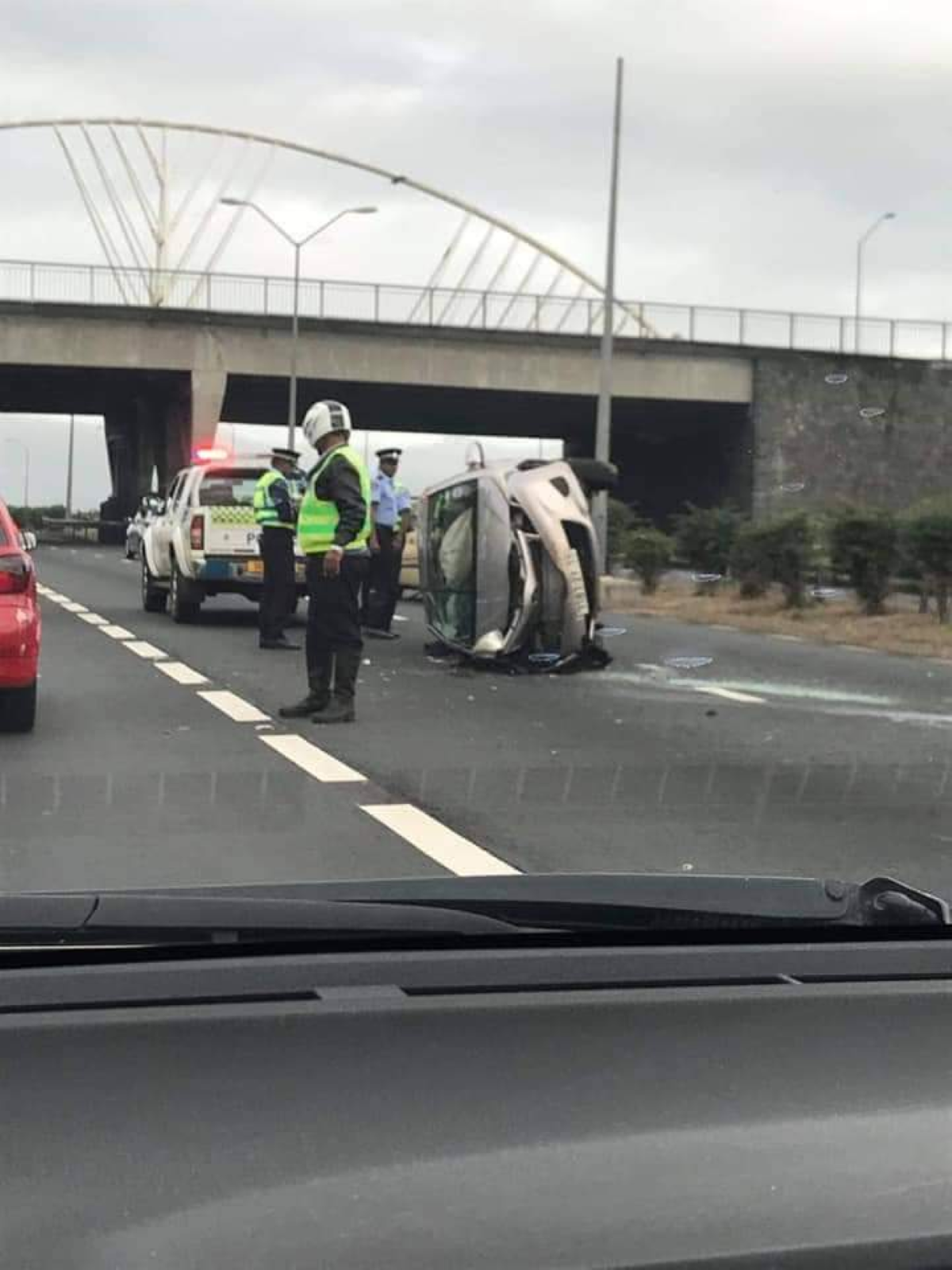 Accident à Bagatelle, la circulation fortement perturbée en direction de Port-Louis