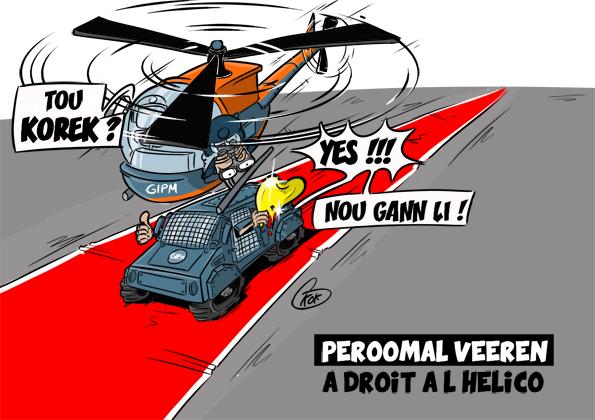 [KOK] Le dessin du jour : Peroomal Veeren a droit à l'hélico