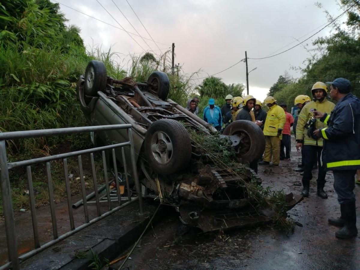 Curepipe/ La Brasserie : deux blessés dans un accident de la route