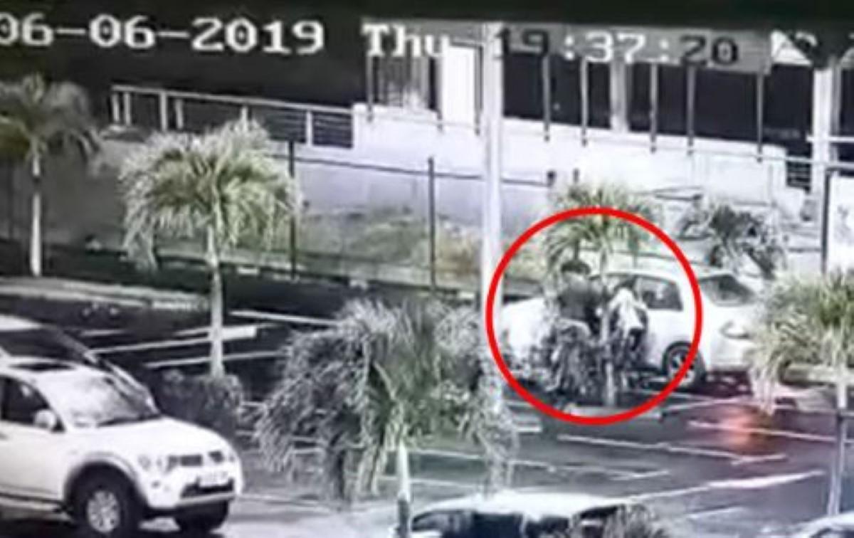 Capture d'écran : images enregistrées par une caméra de surveillance