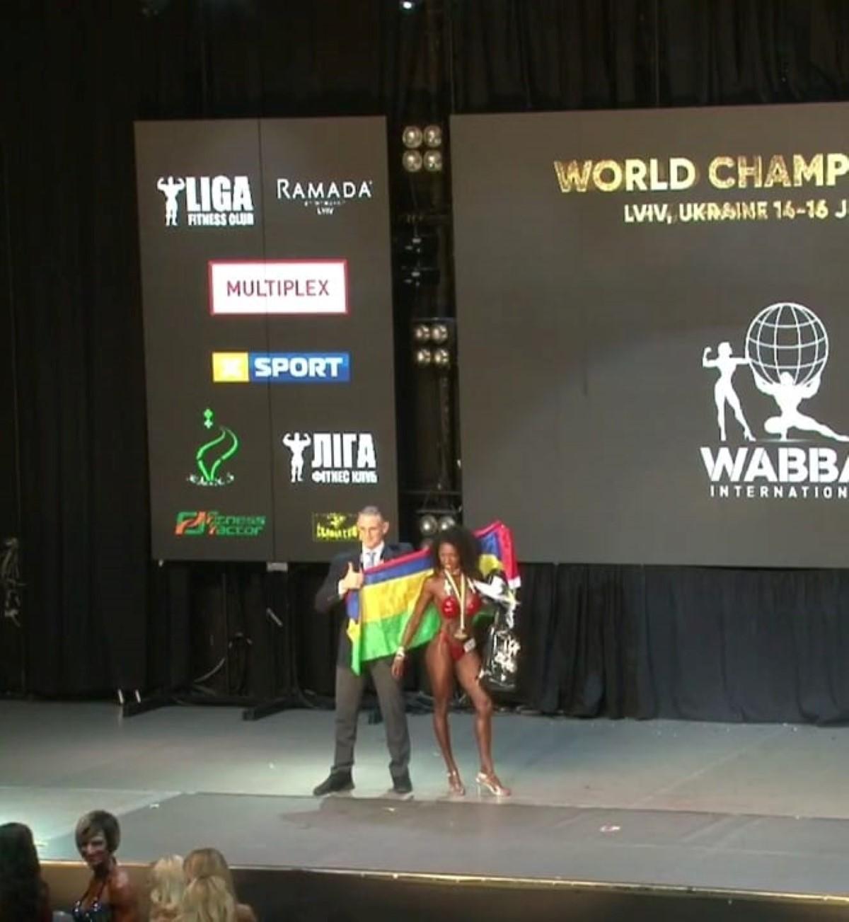 [WABBA] La Mauricienne Kathrine Rabot championne du monde de Body Building