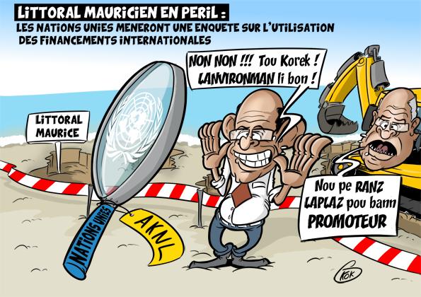 [KOK] Le dessin du jour : Littoral mauricien en péril