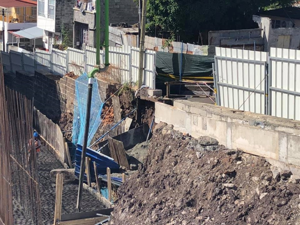La Butte : Glissement de terrain sur le site du Metro Express, les habitants inquiets