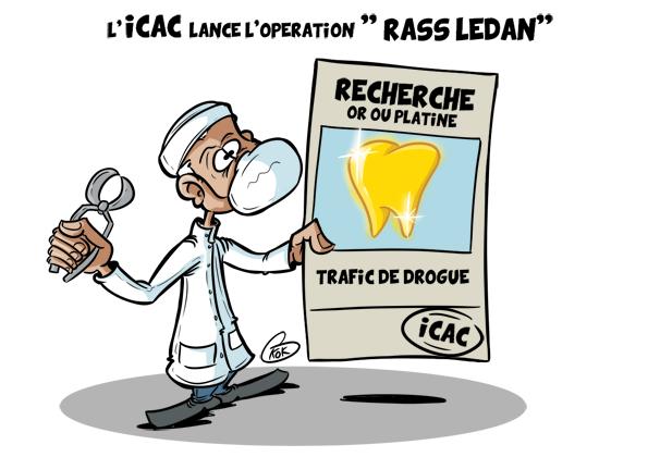 """[KOK] Le dessin du jour : L'ICAC lance l'opération """"Rass Ledan"""""""