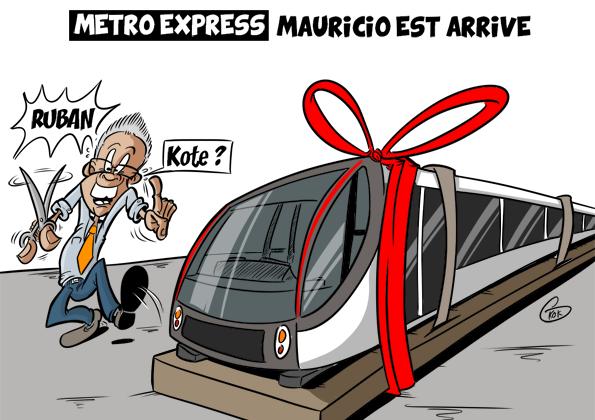 L'actualité vu par KOK : Metro Express : Mauricio est arrivé