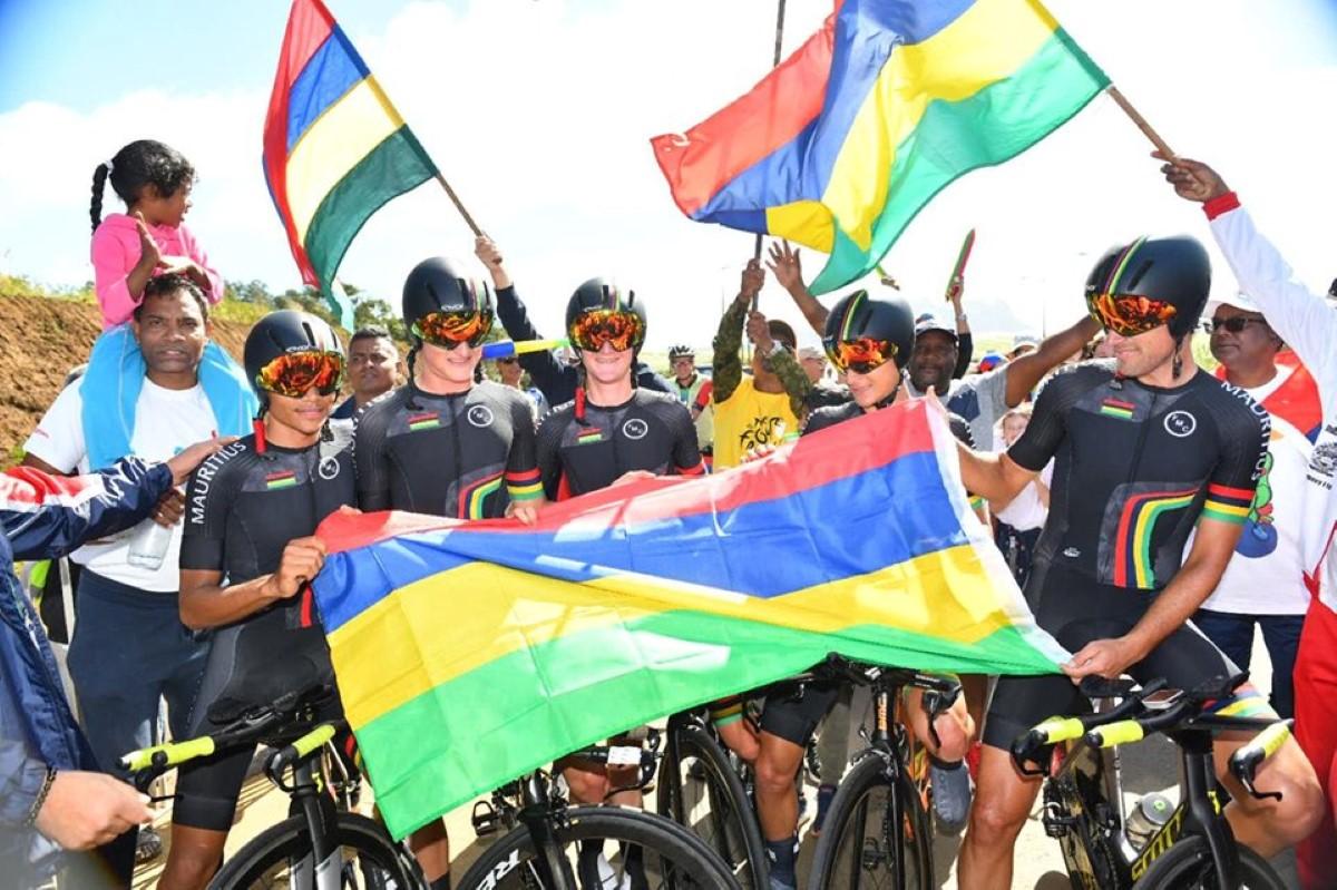 JIOI 2019-Cyclisme : Maurice gagne le contre-la-montre par équipe