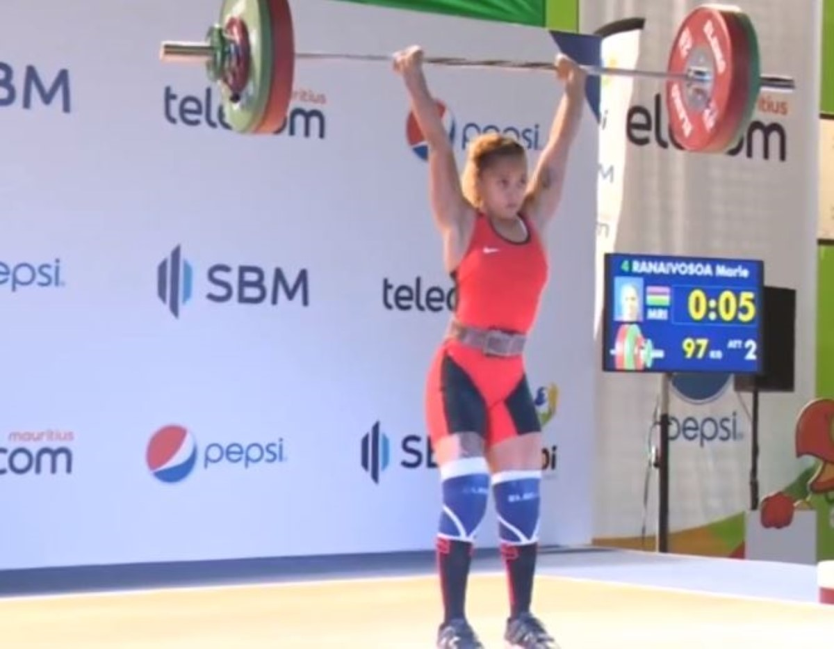 JIOI 2018- Halterophilie : 3 médailles d'or pour Roilya Ranaivosoa