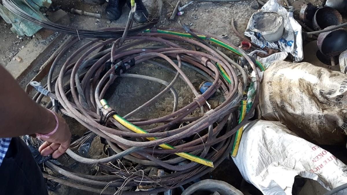 L'Espérance-Trebuchet : Saisi de Rs 2 millions de cuivre dans une fonderie illégale