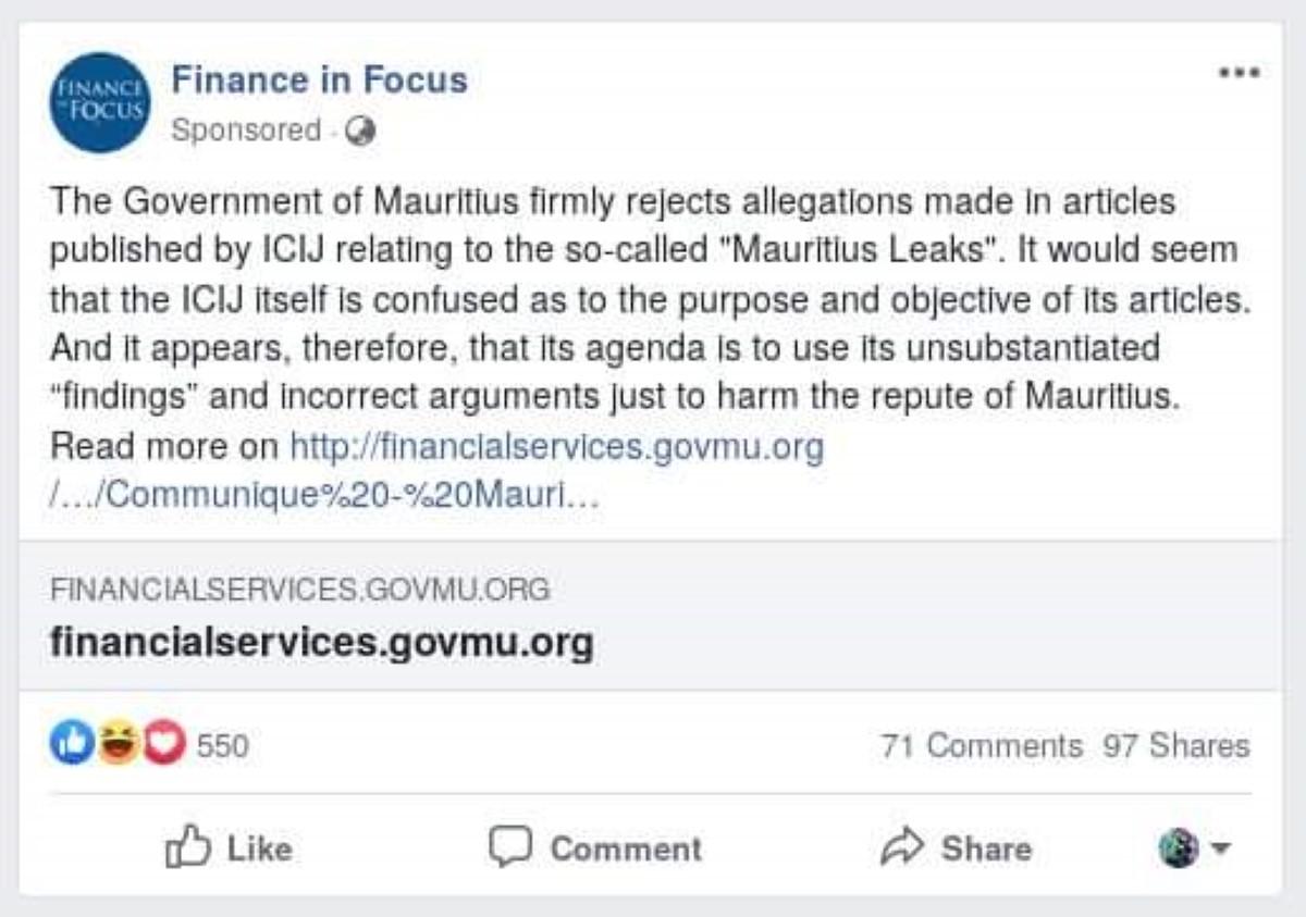 Mauritian Leaks : Les organismes étatiques font front commun contre l'ICIJ