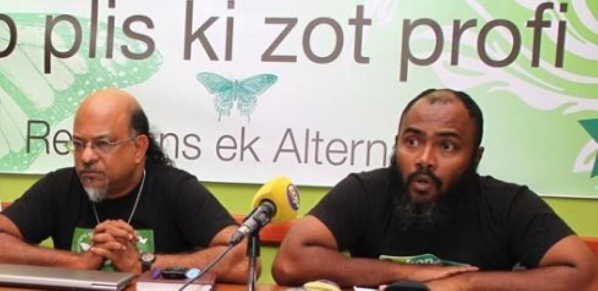 Rezistans ek Alternativ : « Li totalman absird ek iresponsab eli enn depite pou siez dan parlman pou mwins ki 2 mwa. »