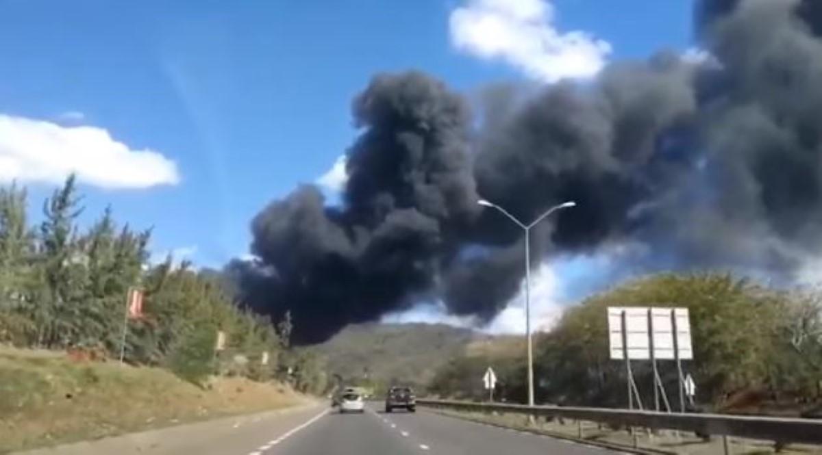 Incendie dans un entrepôt d'appareils électroménagers à Khoyratty