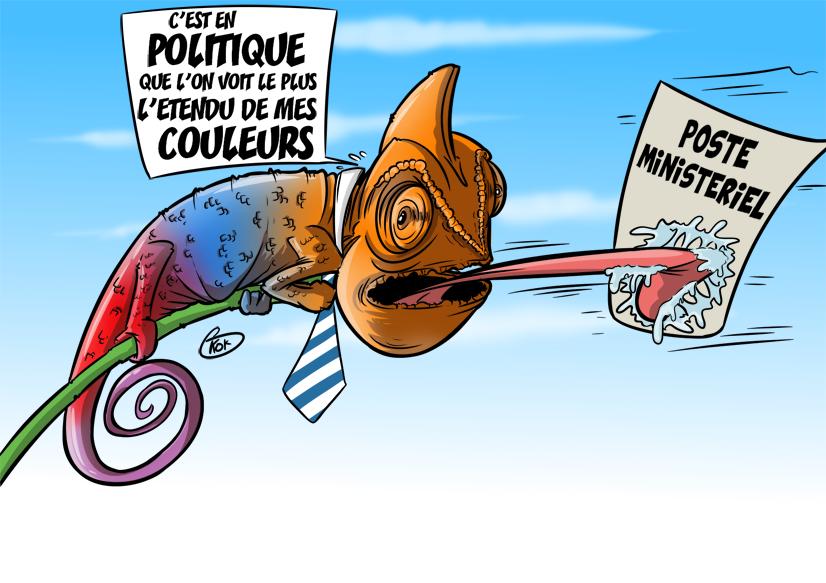 [KOK] Le dessin du jour : Caméléon politique