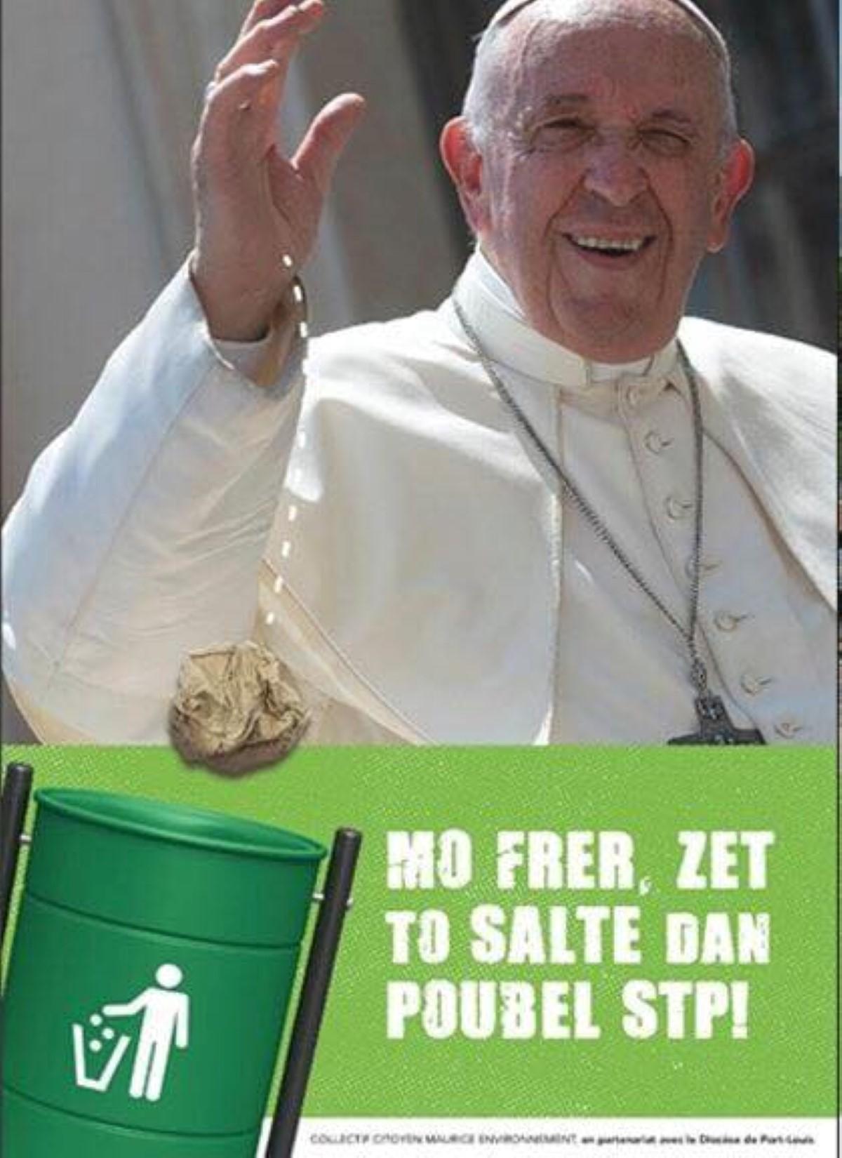 Le diocèse de Port-Louis fait enlever les affiches polémiques «Le pape a dit…»