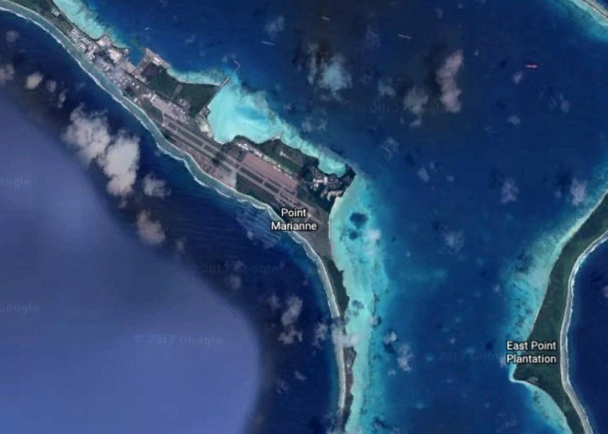 La base militaire de Diego Garcia, image Google Earth