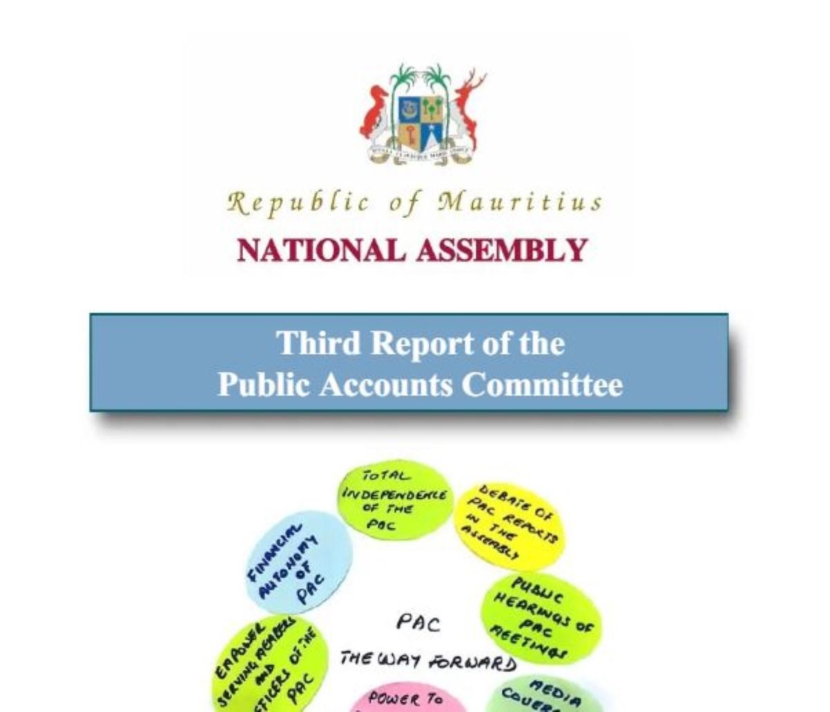 Le rapport du Public Accounts Committee (janvier 2015 à juin 2017)