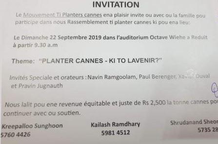Pravind Jugnauth refuse l'invitation des Ti Planteurs Cannes