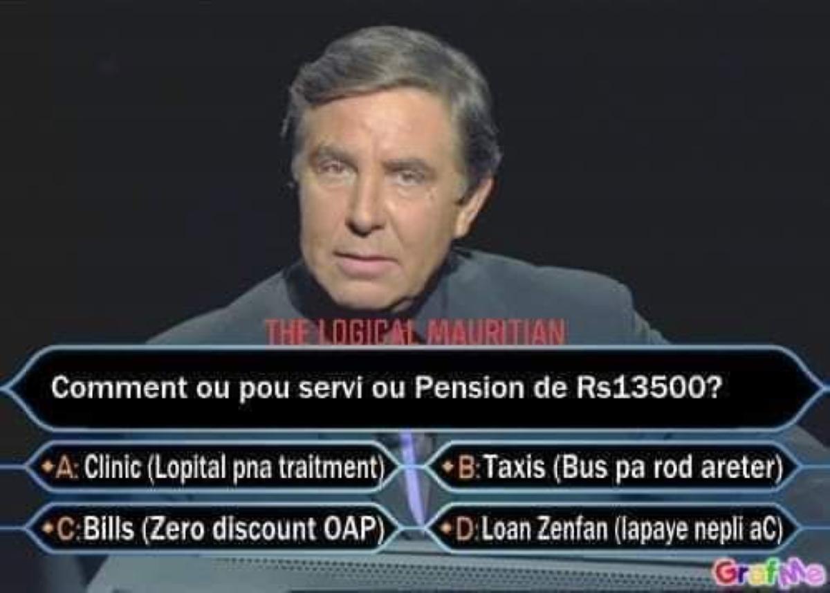 📷 Pension vieillesse : Les Mauriciens ont de l'imagination