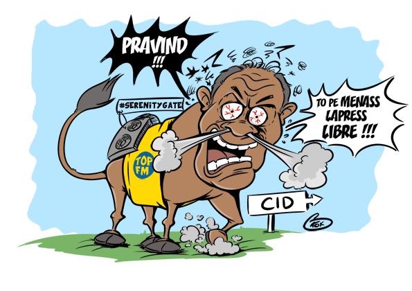 [KOK] Le dessin du jour : Face aux menaces de Pravind Jugnauth, Top FM ne recule pas