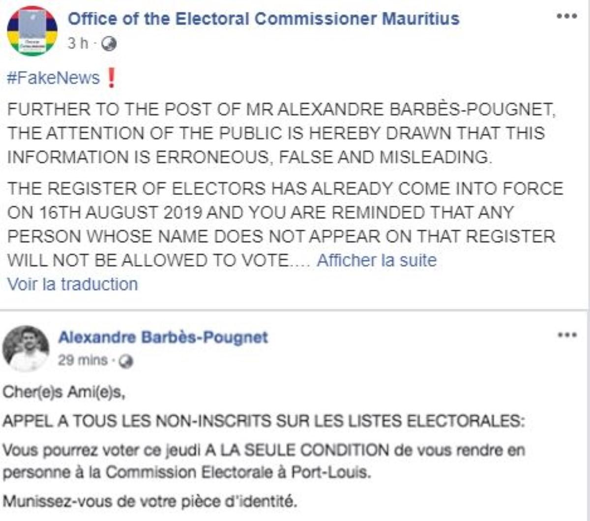 Le candidat Alexandre Barbès-Pougnet victime de piratage ?