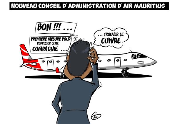 L'actualité vu par KOK : Nouveau conseil d'administration de Air Mauritius