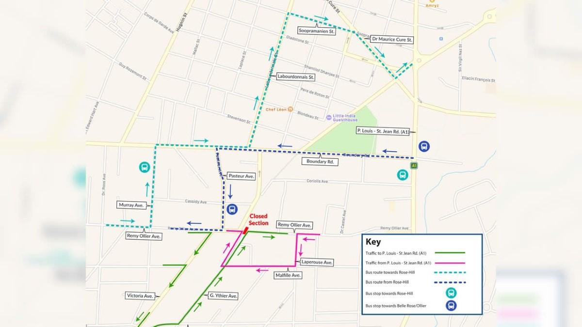 Travaux Metro express : A Belle-Rose, fermeture partielle de la rue Remy Ollier à partir de ce lundi