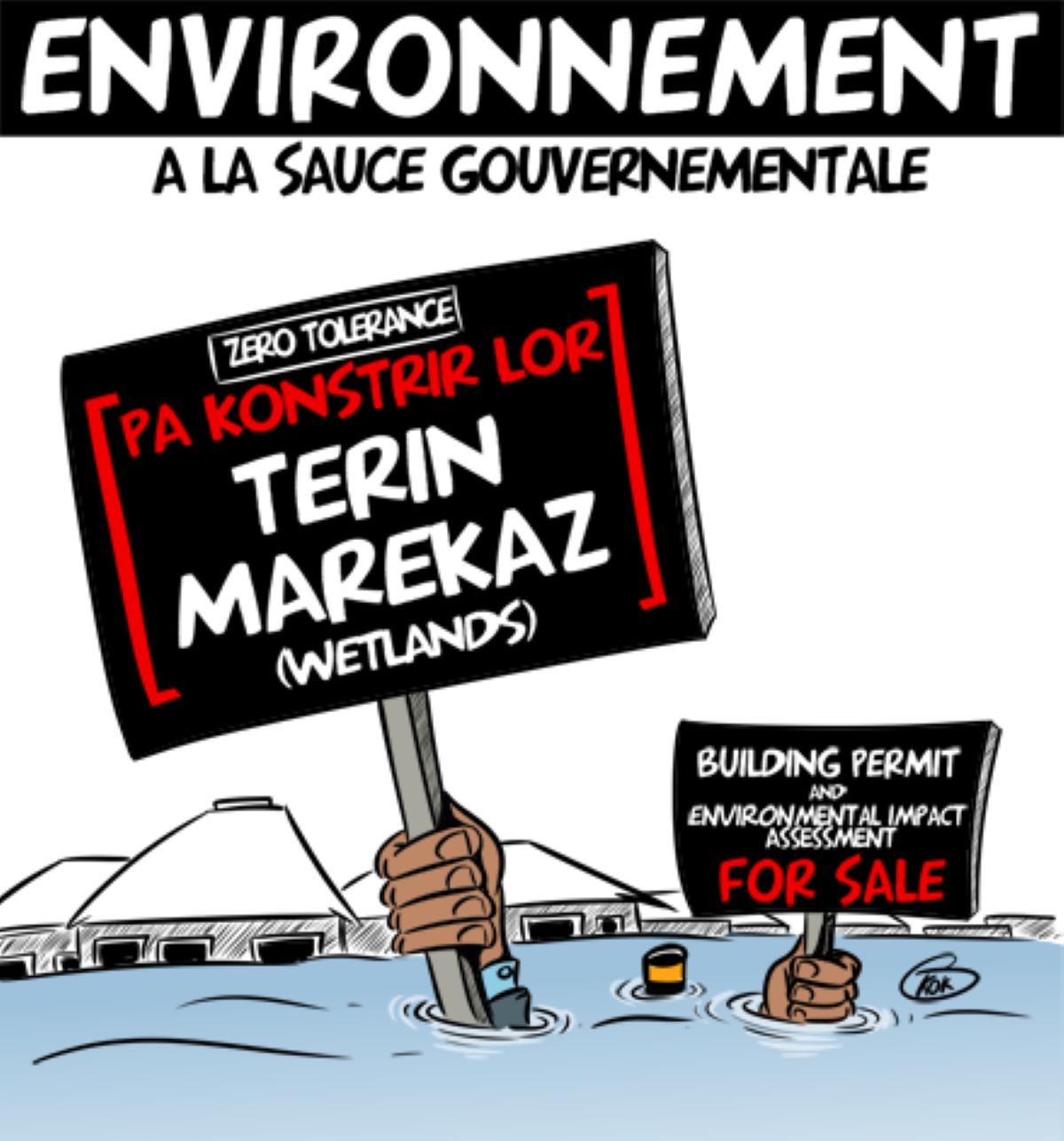 [KOK] Le dessin du jour : L'environnement à la sauce gouvernementale