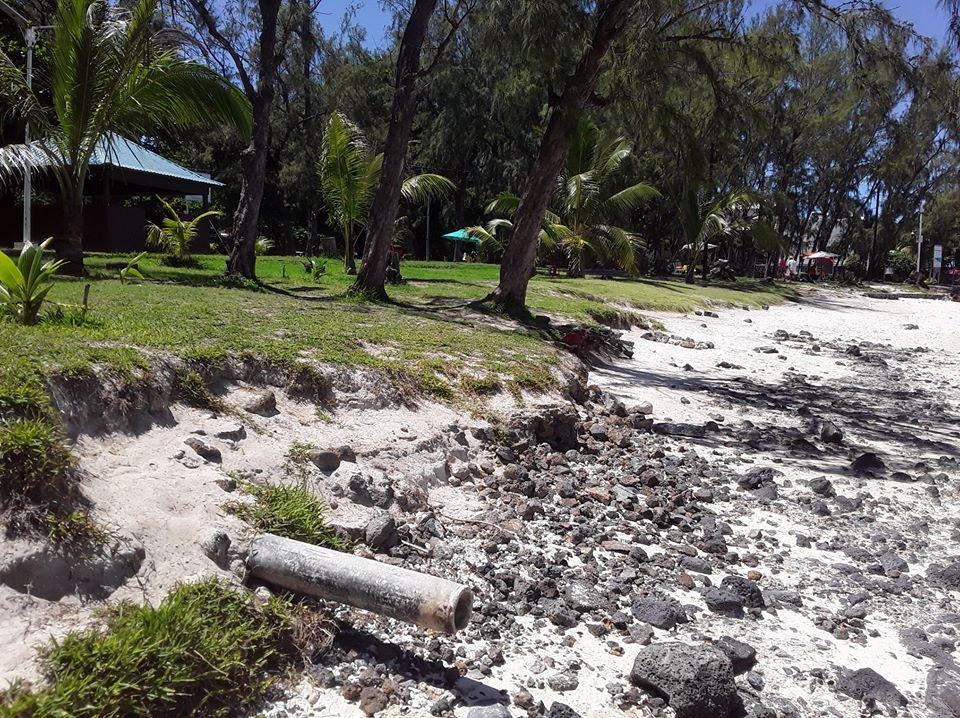 Parc marin de Blue Bay : La Beach Authority affirme que c'est un vieux tuyau qui n'est plus utilisé