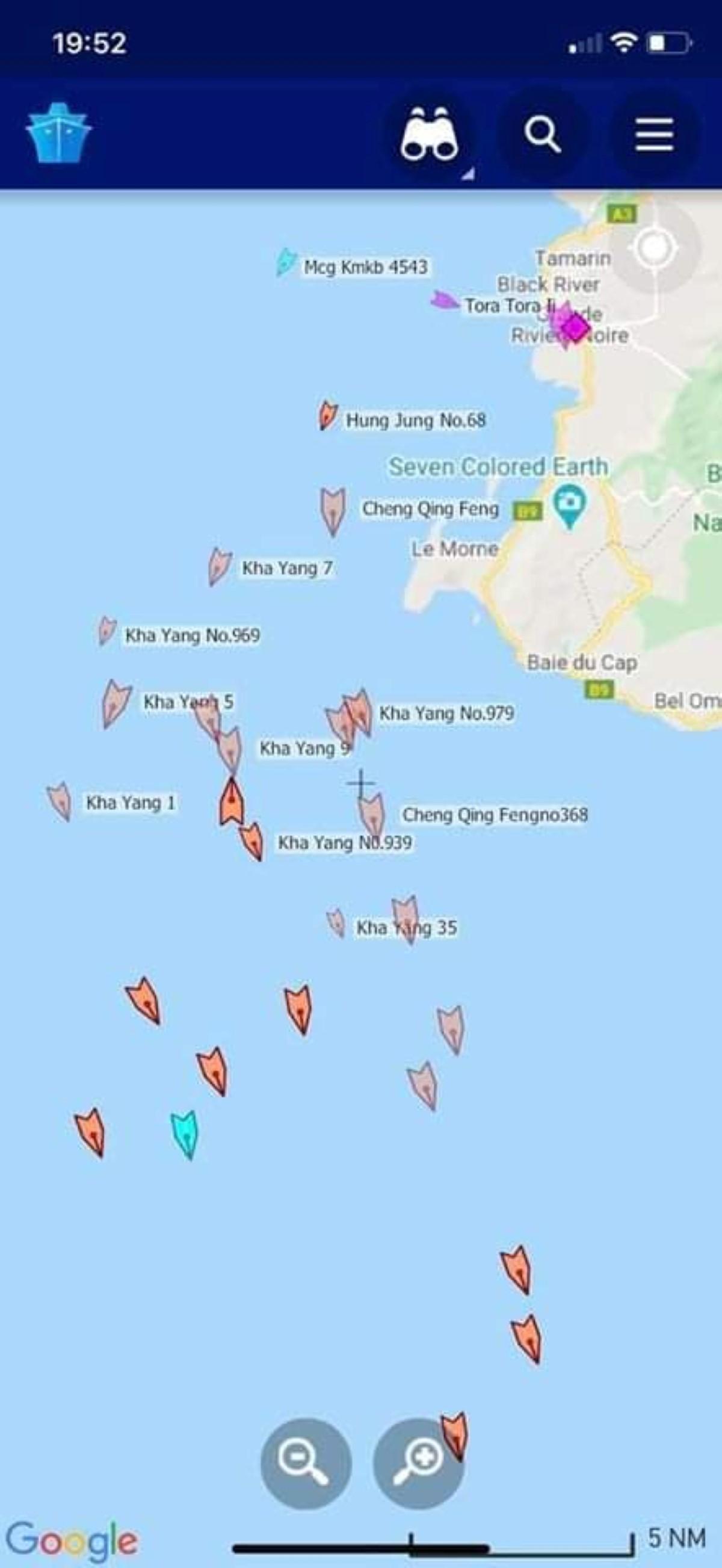 14 navires chinois dans les eaux mauriciennes : le ministère de la pêche affirme qu'ils étaient sous surveillance