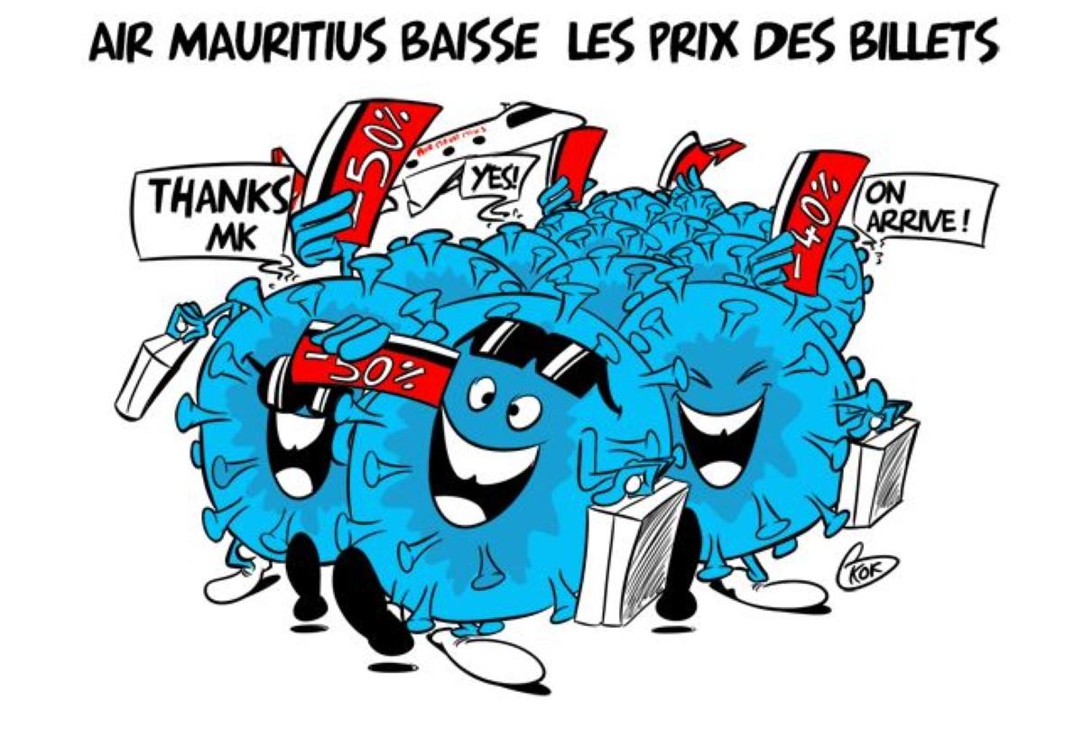 [KOK] Le dessin du jour : Air Mauritius baisse les prix des billets