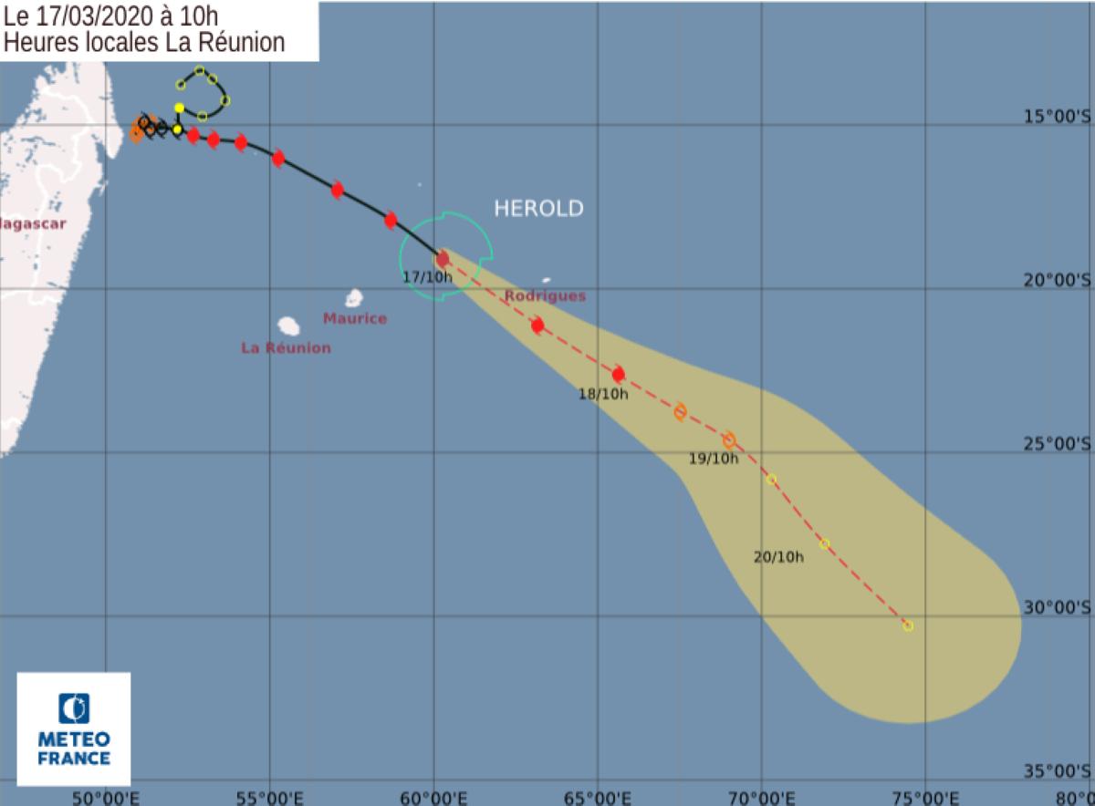 Pas d'alerte cyclonique à Maurice et classe 3 à Rodrigues vers 13H
