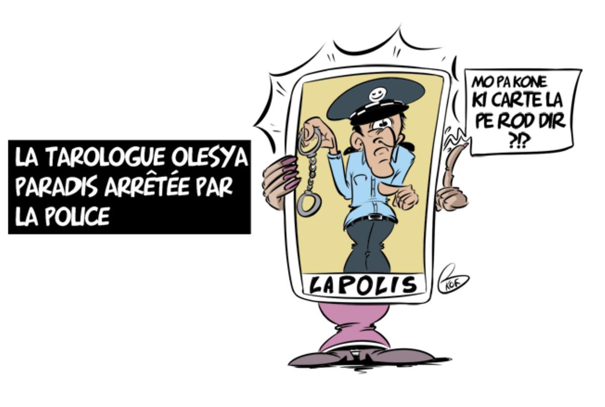 L'actualité vu par KOK : La tarologue Olesya Paradis arrêtée par la police