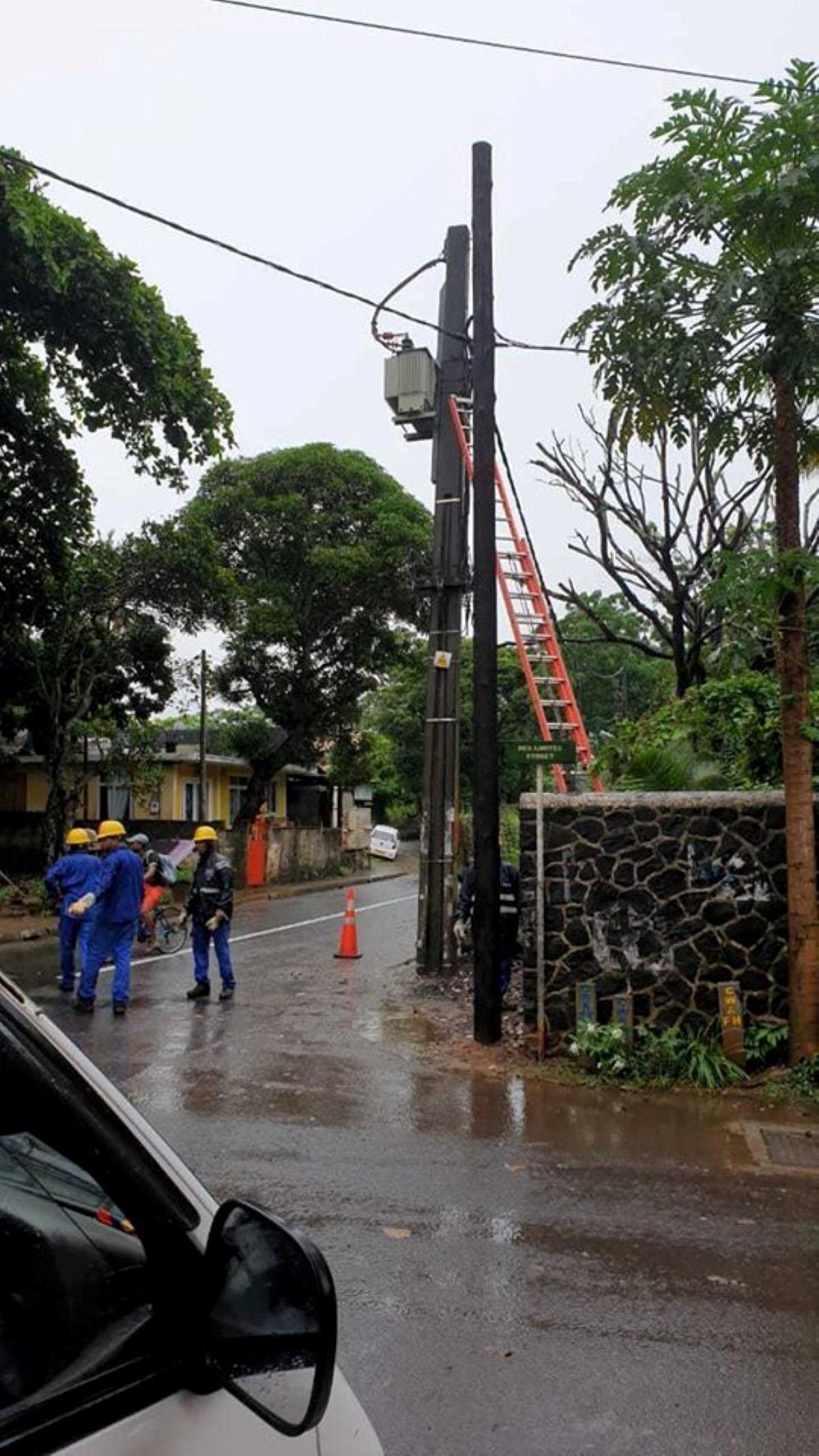 Un transformateur du CEB explose et prive d'électricité la région de Moka, St-Pierre et d'Helvetia