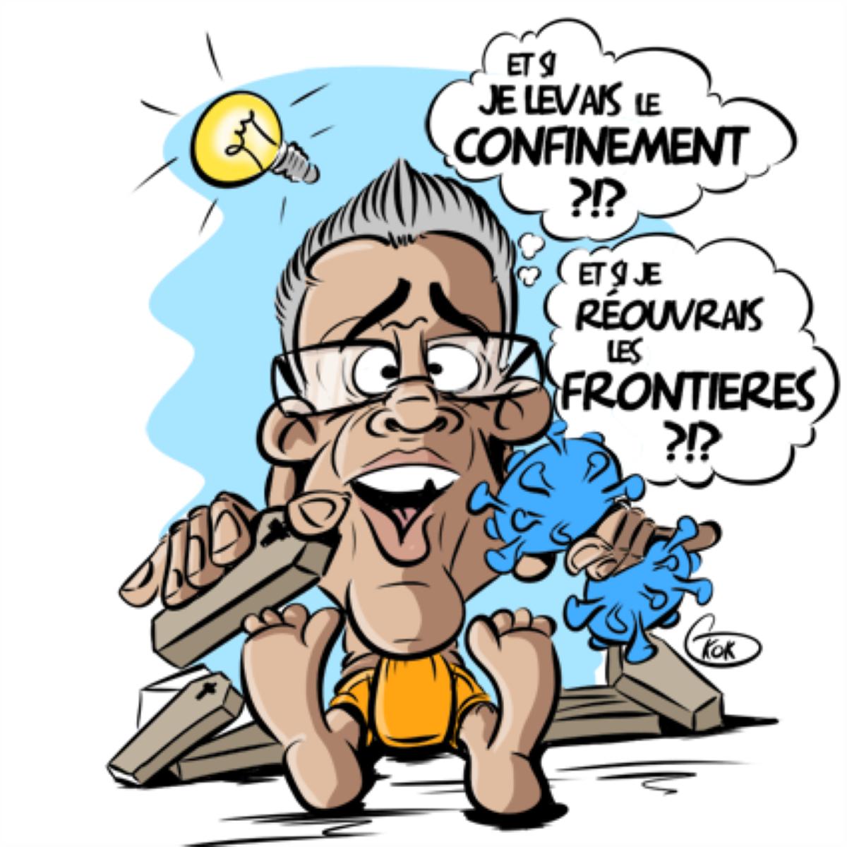 [KOK] Le dessin du jour : Pravind Jugnauth envisage pour bientôt la reprise des activités dans le pays