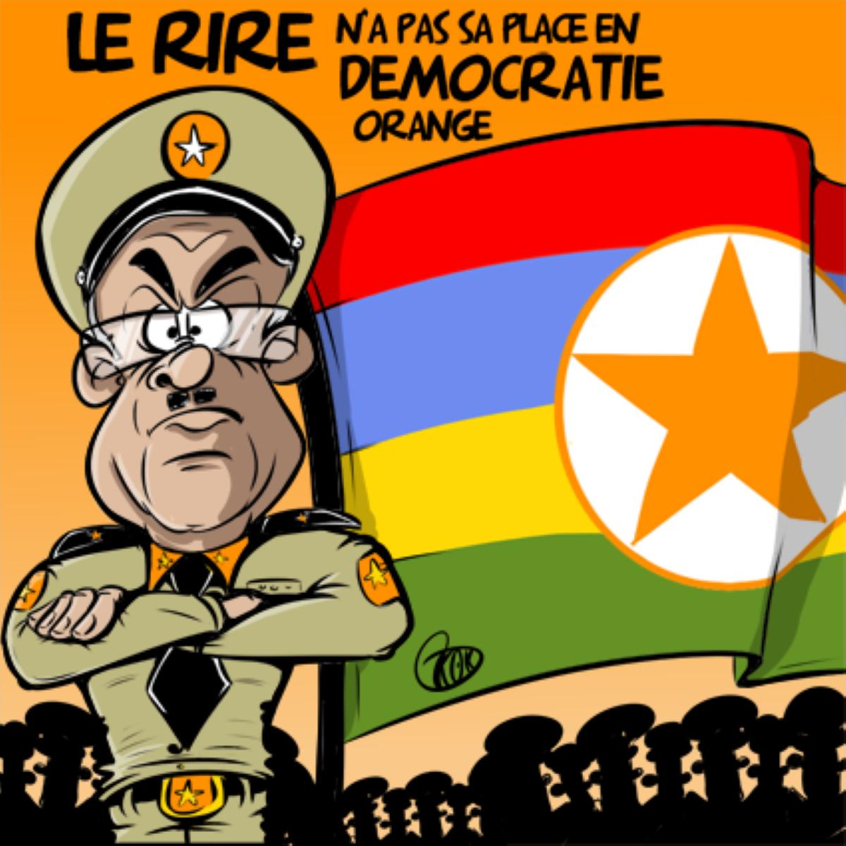 [KOK] Le dessin du jour : Le rire n'a pas sa place en démocratie orange